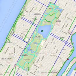 Central Park Bike Map