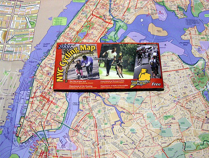 new york city map. free new york city bike map