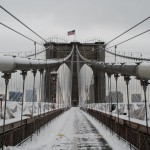 Snow Covered Brooklyn Bridge DSC_0317