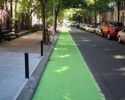 Will green bike lanes make the streets safer?
