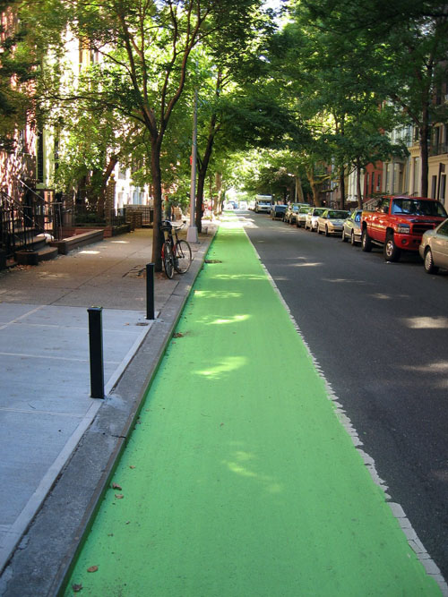 New York City's green bike lane