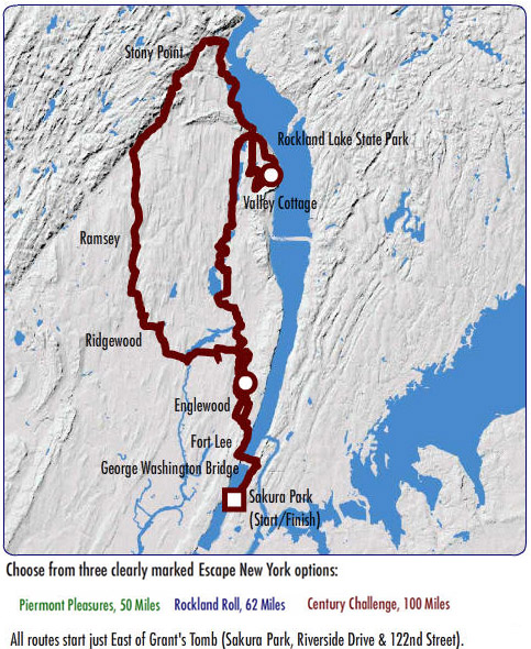 Escape New York 2007 Nyc Bike Maps
