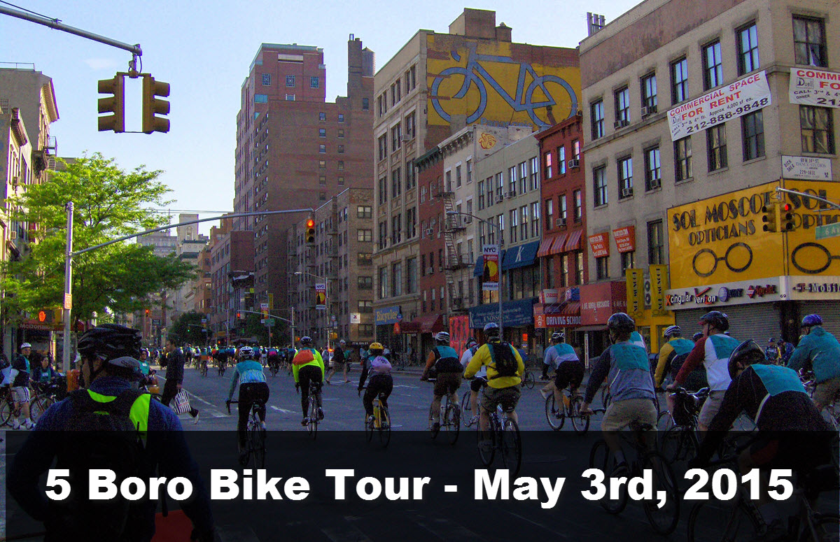 Five Boro Bike Tour 2015 Sunday May 3rd New York City Nyc Bike Maps