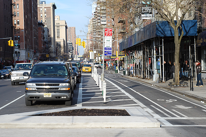 9th Avenue Physically Separated Bike Lane