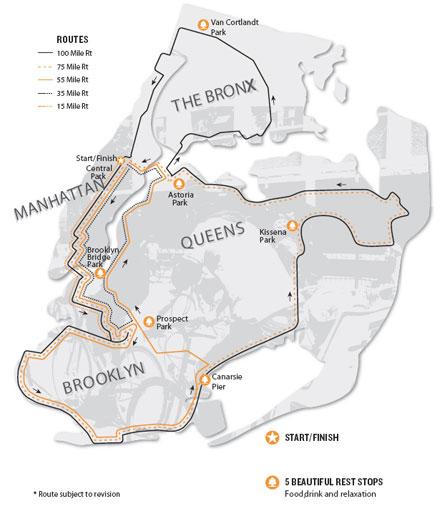 NYC Century Bike Tour September 7th 2008 NYC Bike Maps