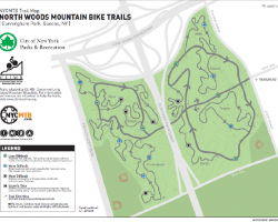 Cunningham Park Mountain Bike Trail Map