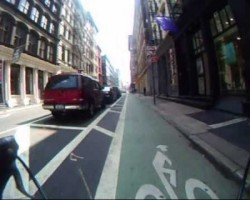 Video:  Ride on the Grand Street Bike Lane