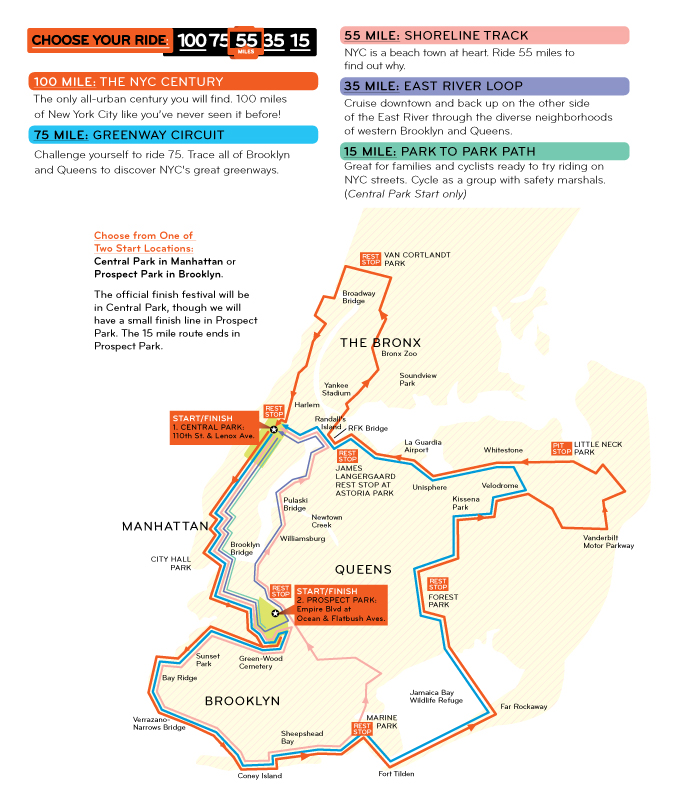 NYC Century Bike Tour 2014: Sunday September 7th | NYC Bike Maps
