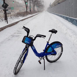 Citi Bike In The Snow