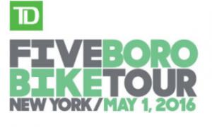Five Boro Bike Tour 2016 – Sunday May 1st