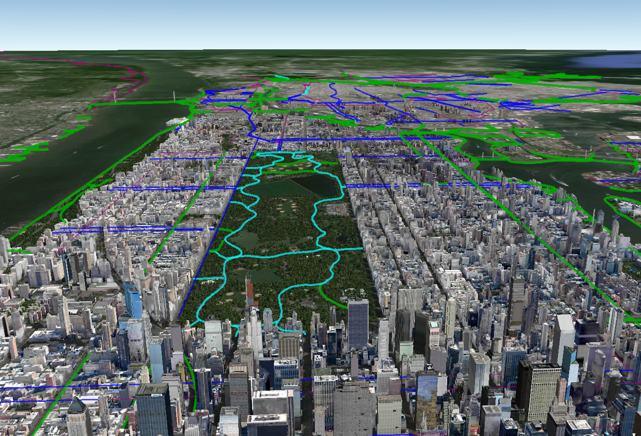 NYC Bike Maps New York Citys Bike Lanes And Bike Paths Mapped - Nyc map google earth