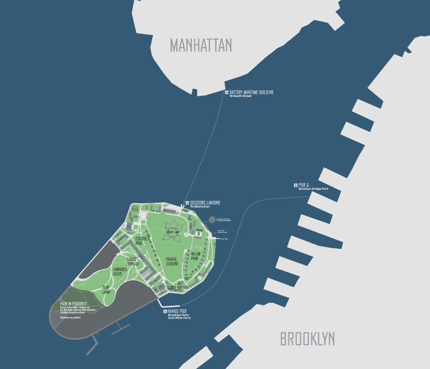 Governors Island Bike Map NYC Bike Maps