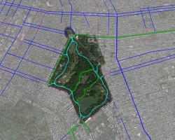 Prospect Park Bike Map