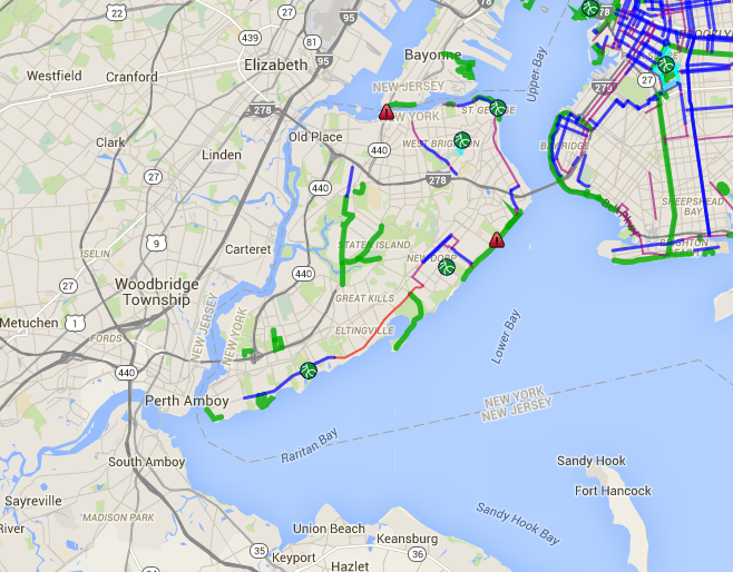 Staten Island Bike Map Staten Island Bike Paths Bike Lanes