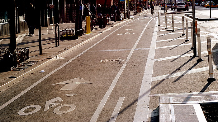Protected Bike Path on 9th Avenue