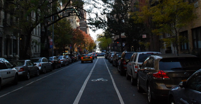 Bike lane on 91st Street