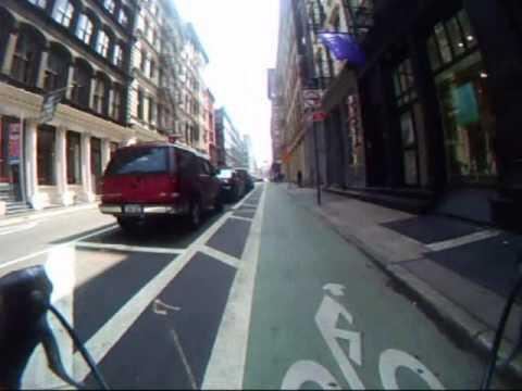 Video:  Ride on the Grand Street Bike Lane