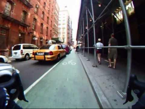 Video:  Ride on the Prince Street Bike Lane