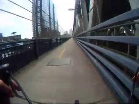 Video:  Bike Ride Across The Manhattan Bridge