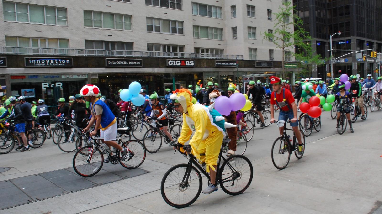 Mario Kart rides the 5 boro bike tour