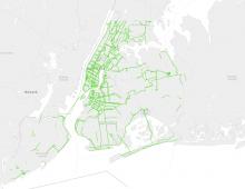 NYC Bike Network Growth Over 120 Years