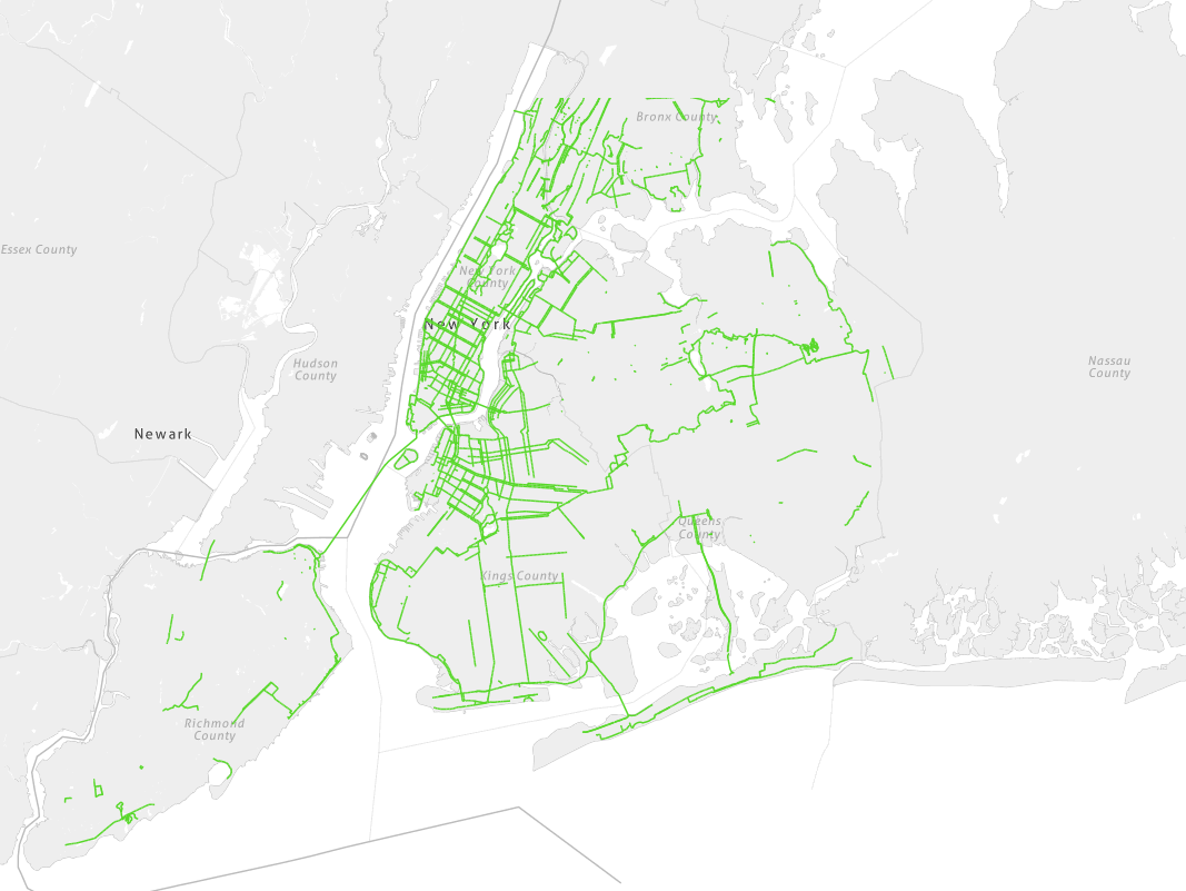 NYC Bike Network Growth Over 120 Years