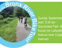 Bronx River Bike Tour: Sunday September 14th